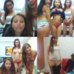 4 jovencitas hermosas se desnudan por web cam