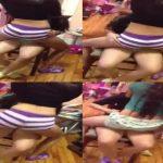 Jovencitas bailando muy sexy en una silla